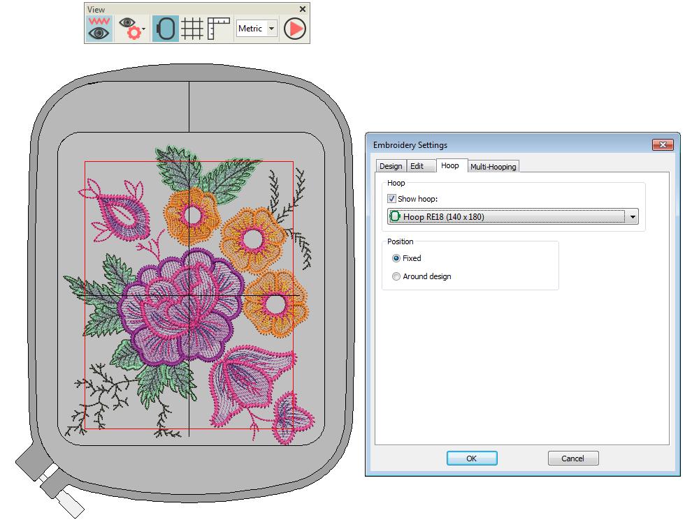 Mehrfach gerahmte Stickmuster erstellen - DigitizerJr V5