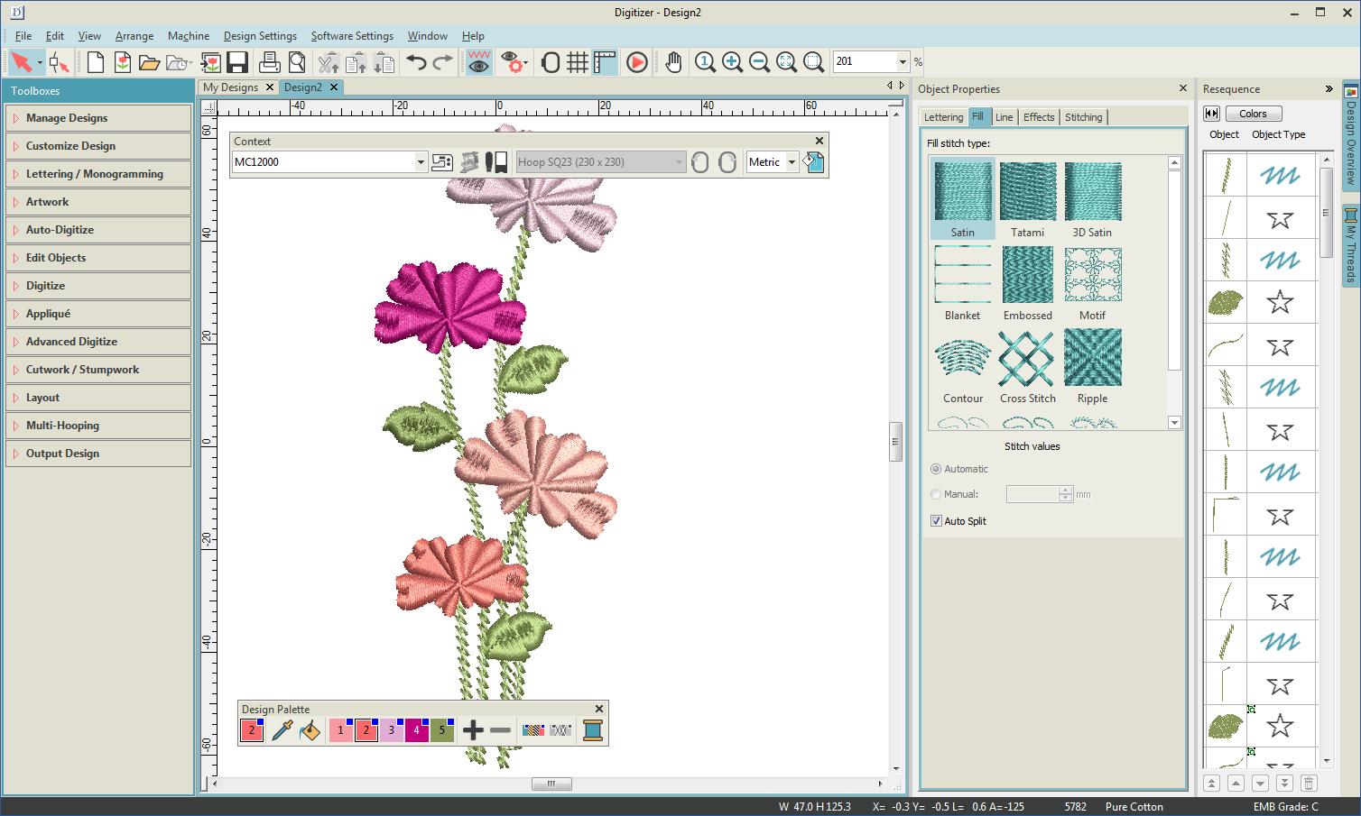 La interfaz de usuario - Digitizer V5