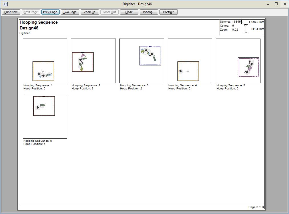 Imprimir diseños - Digitizer V5