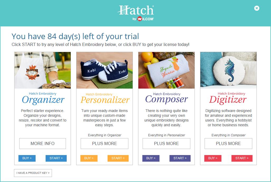 Product key - Hatch