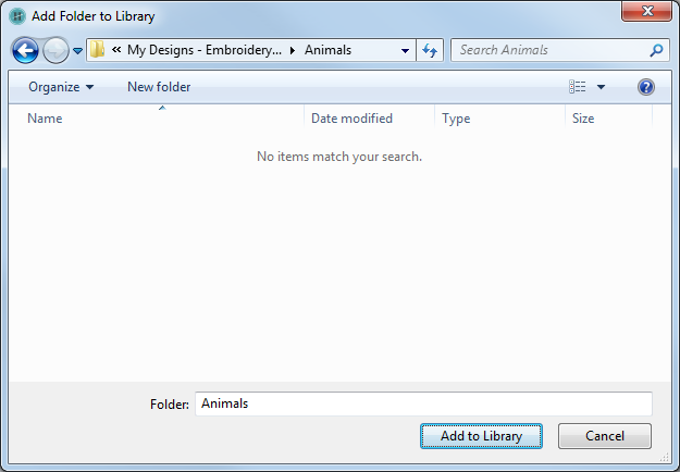 how to add a folder to an existing library